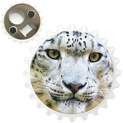 Snow Leopard Wild Cat Décapsuleur Aimant de réfrigérateur, Close Up Of A Snow Leopard, Bottle Opener