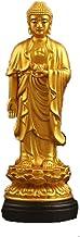 ZGPTX Ameda Buddha Buddha Statue Resin Gold Crafts Buddha Ameda Buddha Car Ornaments Safe Buddha Car Decoration Knot