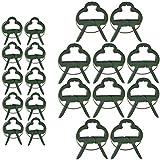 Sgualie31 Piezas Soportes para Plantas Set-18 Clips para Plantas (2 tamaños), 12BridasAjustables para Plantas y 20m de Amarre de jardín Suave con Cortador, Clips para Plantas