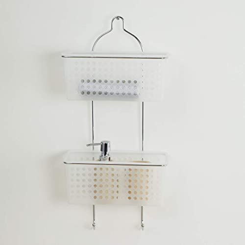 Home Centre Burlington Wall Mounted Two-Tier Shower Caddy - Silver product image
