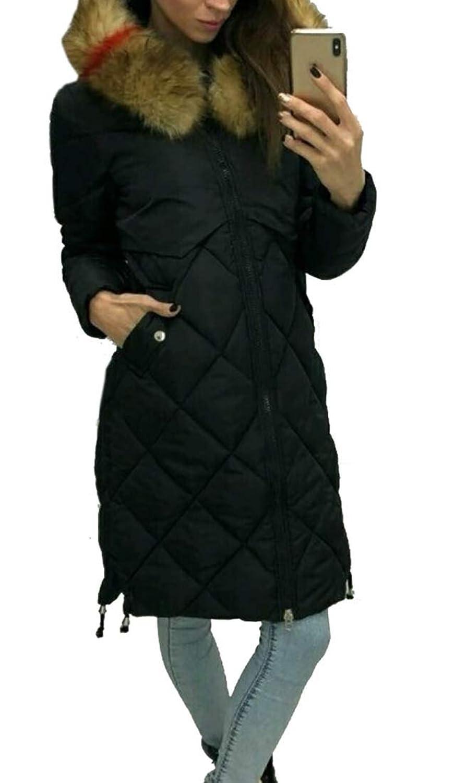 maweisong フェイクファーフード付きコートダウンコート