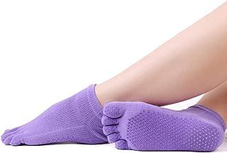 Calcetines de yoga Algodón Antideslizante Señoras Principiantes Algodón de Invierno Completo Cinco Dedos (Color : C)