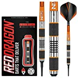 RED DRAGON Amberjack 1 Soft Tip: 18g - Tungsten Soft Tip Darts Set with Flights and Stems