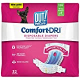 OUT! Pet Care Disposable Female Dog Diapers | Absorbent with Leak Proof Fit | Toy, 32 Count