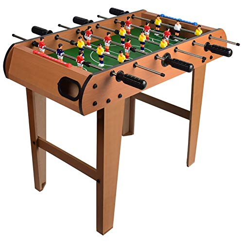 %23 OFF! TriGold 27 Inch Foosball Table Wooden,Easily Assemble Tabletop Soccer Game with 2 Footballs,Indoor Football Table Set for Family Parties A