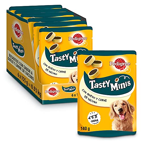 Pedigree Snack per Cane Tasty Bites Cheesy Bites con Formaggio e Manzo 140 g - 6 Confezioni