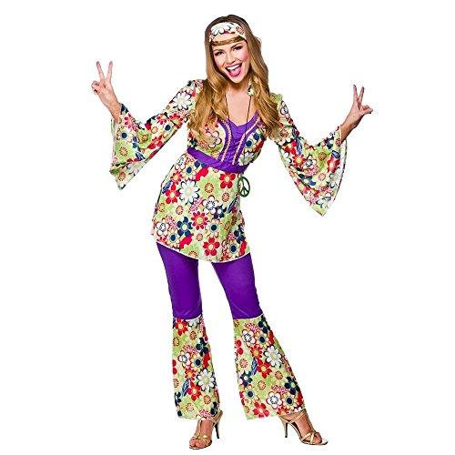 Ladies Hippie Chick 60s/70s Costume. Size 26-28