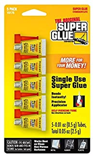 Super Glue 15175 مینی لوله های یکبار مصرف 5 بسته ای