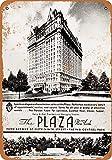 Lotusworld 1936 The Plaza Hotel New York Cartel de metal para interiores y exteriores de 8 x 12 pulgadas