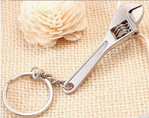 Llavero con llave inglesa ajustable