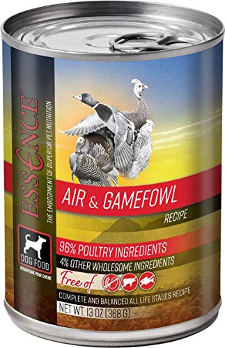 Essence Air & Gamefowl Grain-Free Canned Dog Food 13 oz (Flat of 12)