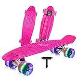 Best Beginner Skateboards - BELEEV Skateboard 22 inch Complete Mini Cruiser Retro Review