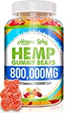 Hemp Gummies 800000 mg High Potency Premium Fruity Gummy with Organic Hemp Oil. Natural Hemp Supplements for Pain, Anxiety, Stress & Inflammation Relief. Promotes Sleep & Calm Mood