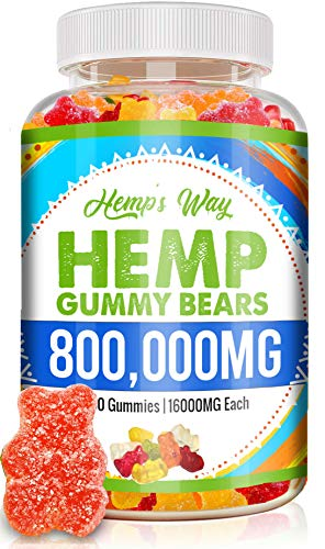Hemp Gummies 800000 mg High Potency Premium Cbdmd Gummies for Pain and Anxiety with Organic Cbdmd Oil for Pain Relief and Inflammation Supplements Gluten Free Vegan Magnesium Vitamins Gummy Bear B12
