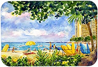 Caroline's Treasures 6065CMTBeach Resort View From the Condo Kitchen or Bath Mat, 20 by 30, Multicolor