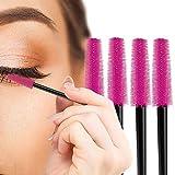 Nylea 120 Pack Disposable Eyelash Applicator Wands - Curler Brush Set - Mascara Eyebrow Spoolers - Comb Wands Spoolies Brushes