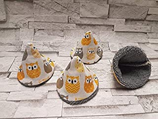 """Lot de 4 tipi à pipi""""pare pipi"""" écologique collection Chouettes Jaune/gris/cone à pipi/et réutilisables naissance cadeaux ..."""