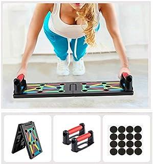 Surplex 9 en 1 Push Up Rack Board System Plegable Push Up Tabla Board Fitness Entrenamiento Gimnasio Ejercicio Stands para el Aptitud Ejercicio Entrenamiento Muscular del Cuerpo Deporte Gimnasio hogar