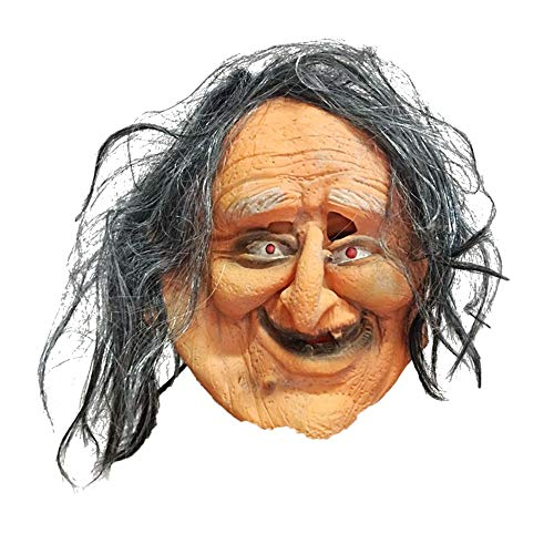 WZ Mascara de Halloween Careta De Bruja Vieja para La Cabeza