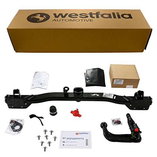 Abnehmbare Westfalia Anhängerkupplung für 5er Touring E61 (BJ 07/04-09/10), 5er Limousine E60 (BJ 07/03-02/10) im Set mit 13-poligem fahrzeugspezifischen Westfalia Elektrosatz