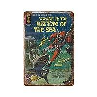 海底への航海 さびた錫のサインヴィンテージアルミニウムプラークアートポスター装飾面白い鉄の絵の個性安全標識警告アニメゲームフィルムバースクールカフェ40cm*30