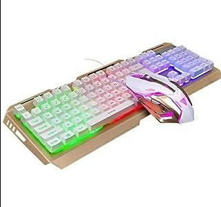 USB wired adjustable ergonomic backlit mechanical feel gaming keyboard mouse set