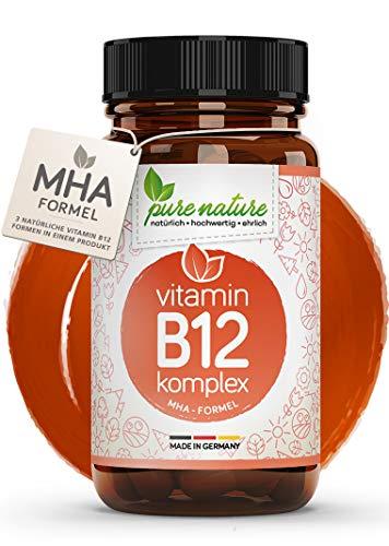 Vitamin B12 500µg Komplex 3in1 MHA-Formel bioaktive Formen | 100% NATUR & REIN I 120 Tabletten | Vegan | Hochdosiert | Laborgeprüft
