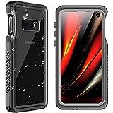 SPIDERCASE for Samsung Galaxy S10E Waterproof Case, Underwater Snowproof Dirtproof Shockproof Full Body Cover Waterproof Case for Samsung Galaxy S10E (Black+Transparent)