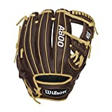 """Wilson Showtime Pedroia Fit Baseball Gloves, Brown/Blonde, 11.5"""", Right Hand Throw"""