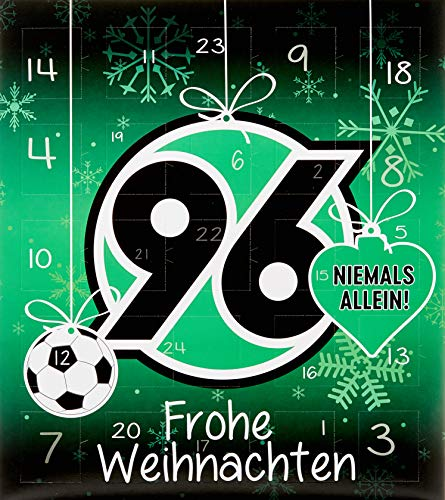 Riegelein Fußball Adventskalender Hannover 96 mit 25 Schokoladentalern + Gimmick, 1er Pack (1 x 200 g)