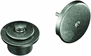 Moen T90331PW Tub Drain Kit with Push-N-Lock Drain Assembly, Pewter