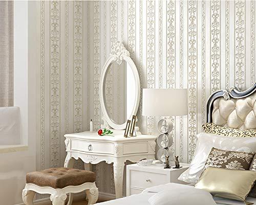 Lujo 3D en Relieve Vintage Wallpaper para la Sala de Estar Retro Rayas Wallpapers Vertical Europa Papel de Pared Rollo de Papel de Papel Peint 5.3m²