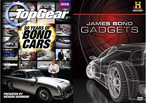 James Bond Gadgets + Ian Fleming Biography Documentary DVD & Goldfinger Aston Martin Car 007 Set Hot Wheels Die-Cast