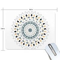 マウスパッド かわいい 曼荼羅 インド風 花 上品 鳥 高級 ノート パソコン マウス パッド 柔らかい ゲーミング よく 滑る 便利 静音 携帯 手首 楽