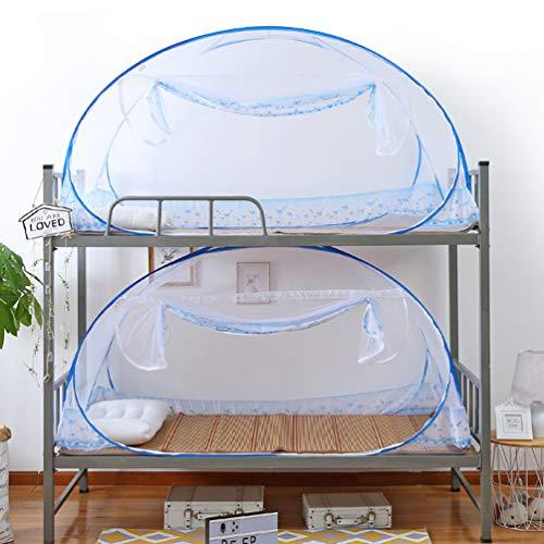 XGYUII Mongoolse Muggen Netto Studentenslaapzaal Rits Vouwen Bovenste Winkel Nets Tent Bed Luifel Vliegen Bites Voor Bed Camping Reizen Thuis Outdoor