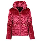 Geographical Norway - Parka para mujer (terciopelo, modelo Aulimpi), color rojo