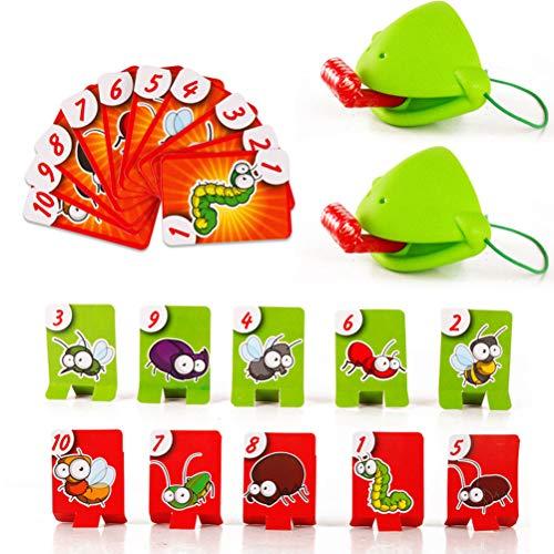 Fovely Juego Interactivo Catch Bugs, Quick Tongue Game Interactive Desktop Atletismo Catch Bugs Game Frog Eating Mosquito Divertido Juego de Mesa, para Fiesta Familiar