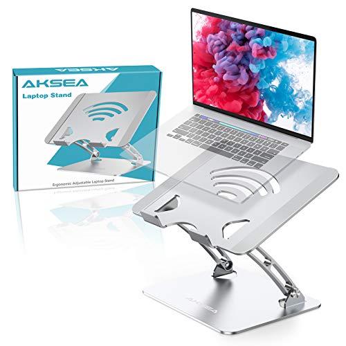 """AKSEA Support Ordinateur Portable, Ergonomique en Réglable Laptop Stand pour Macbook Pro/Air et Dell, HP, Samsung, Lenovo Tous Les Support PC Portables 10-17"""""""