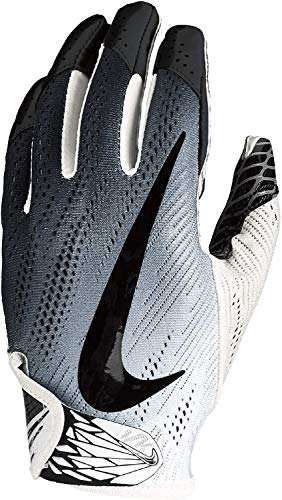 NIKE Football Glove - Vapor Knit 2.0 (Black/White/White, Medium)