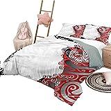 Bettwäsche Trippy Leichtes BettZimmer Tagesdecke für alle Jahreszeiten Abstract Swirls Motiv