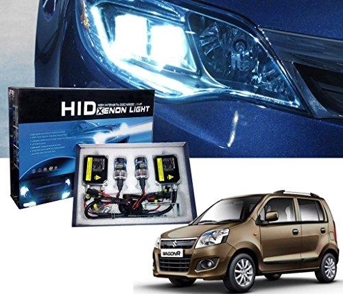 Auto Pearl - Car HID Light Kit Bulbs H4 6000k Automotive Headlight Bulbs Auto Conversion Driving Lamp High Intensity Discharge Kit Xenon White Light for - Wagon R Model (Set of 2 Pcs)