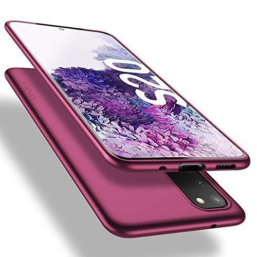 X-level Samsung Galaxy S20 Hülle, [Guardian Serie] Soft Flex TPU Case Ultradünn Handyhülle Silikon Bumper Cover Schutz Tasche Schale Schutzhülle für Samsung Galaxy S20 5G - Weinrot