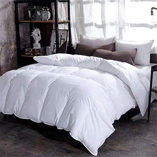 Legend Cotton Duvet, 95% White Goose Down Quilt, Thick Core, Breathable, Warm, Soft and Comfortable, Anti-allergic, Suitable for All Seasons (white) (200 * 230cm2 kg)