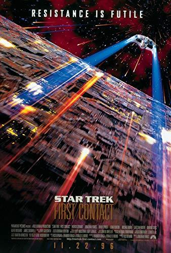 Star Trek First Contact 1 Filmposter – Beste Druckkunstreproduktion Qualität Wanddekoration Geschenk – A1 Poster (84/59 cm) – Hochglanz-Fotopapier