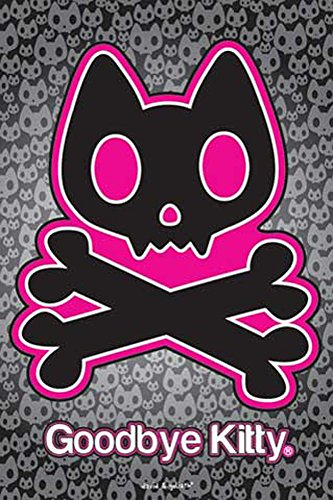 D & G David & Goliath Poster Goodbye Kitty, Skull + accessoires pas de cadre