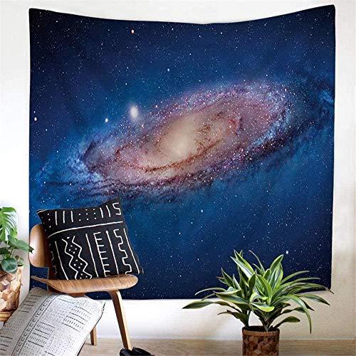 Noche cielo estrellado estrellas galaxia cósmica planeta universo espacio exterior tapiz tapiz de tela para colgar en la pared decoración de arte 150cmX130cm