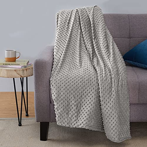 Amazon Basics Weighted Blanket with Minky Duvet Cover - 6.8 kg, 150 x 200...