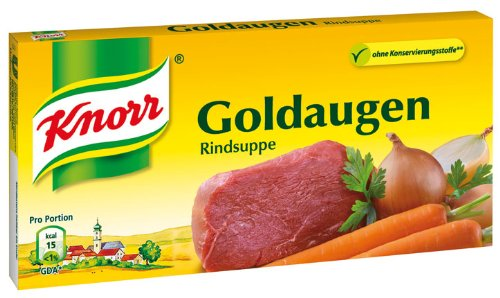 Knorr Goldaugen Rindsuppe, 12 Würfel - 130gr - 4x