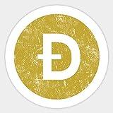 Vintage Dogecoin Crypto - Sticker Graphic - Decal Sticker Sticker