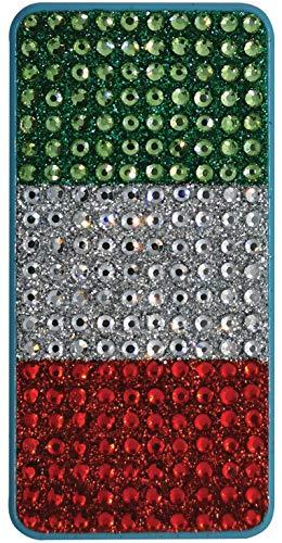 MIRHOLUX Ambientador para coche con la bandera italiana, realizado artesanalmente con piedras tricolor con esencia fresca talco, fabricado en Italia